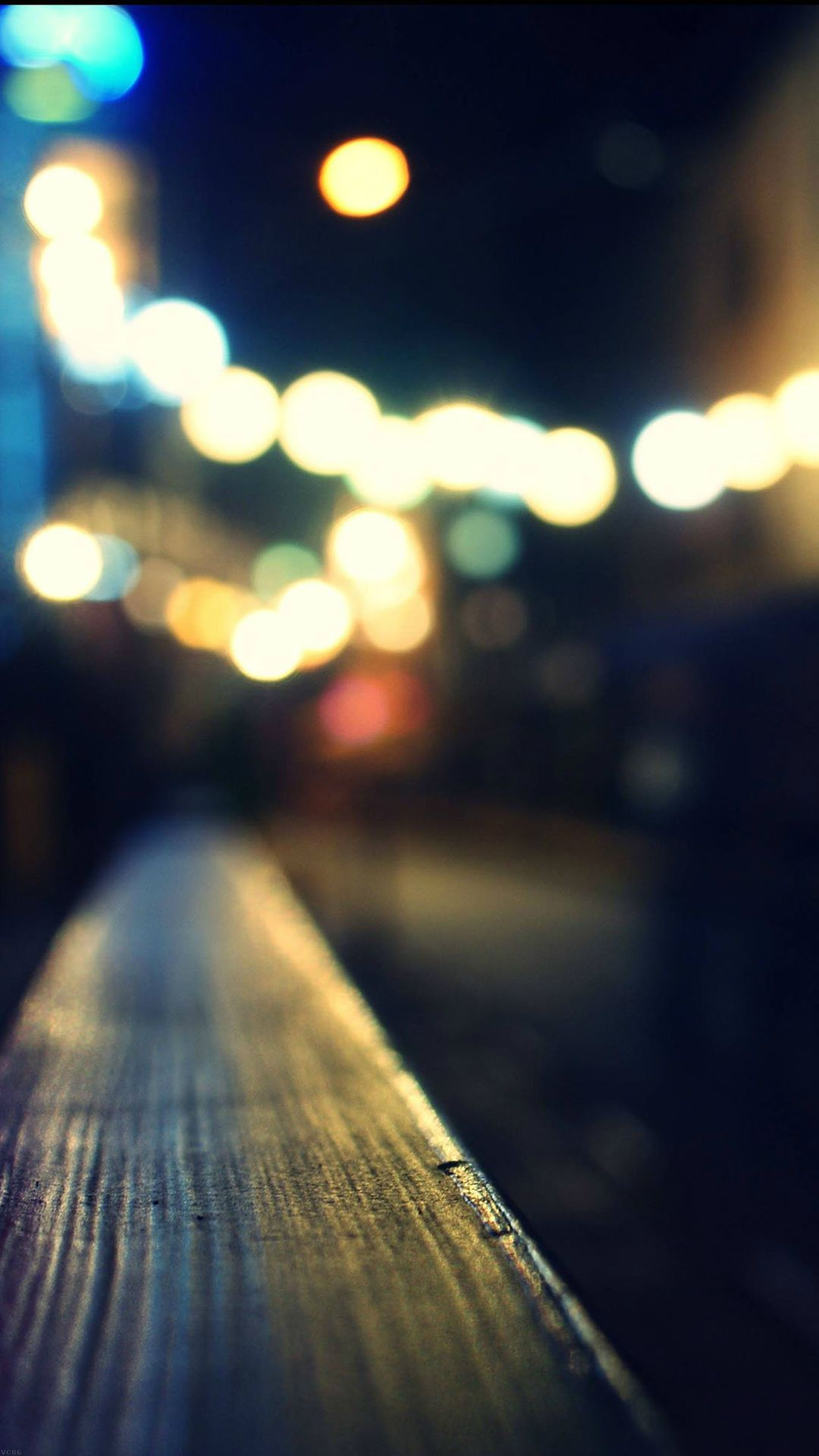 Bokeh Night City Neon Light iPhone 6 plus wallpaper