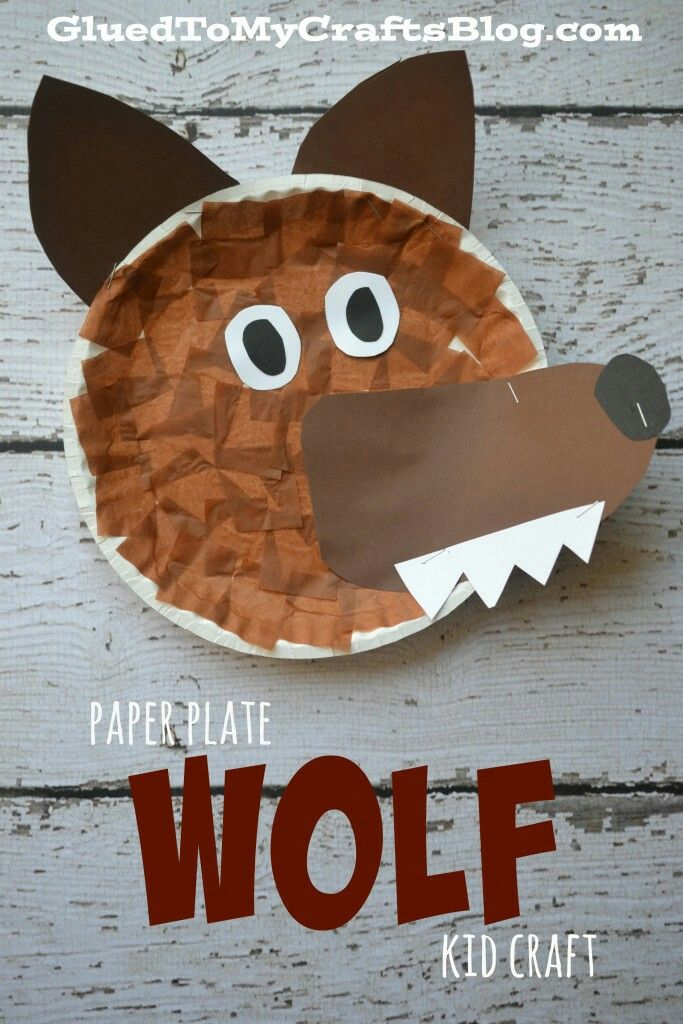Paper Plate Wolf Kid Craft Cute and easy wolf craft. This would be great for Peter and the Wolf or for dramatizing Little Red Riding Hood. & Pin by Kim Ragland on Letter W | Pinterest | Craft Paper plate ...