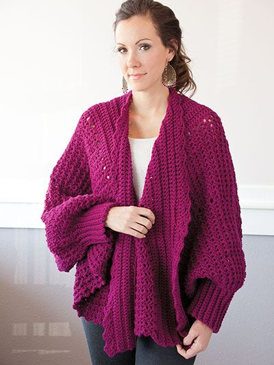 Annie\'s - Cozy Cuffed Cape Crochet Pattern Pack | Crochet & Knit ...