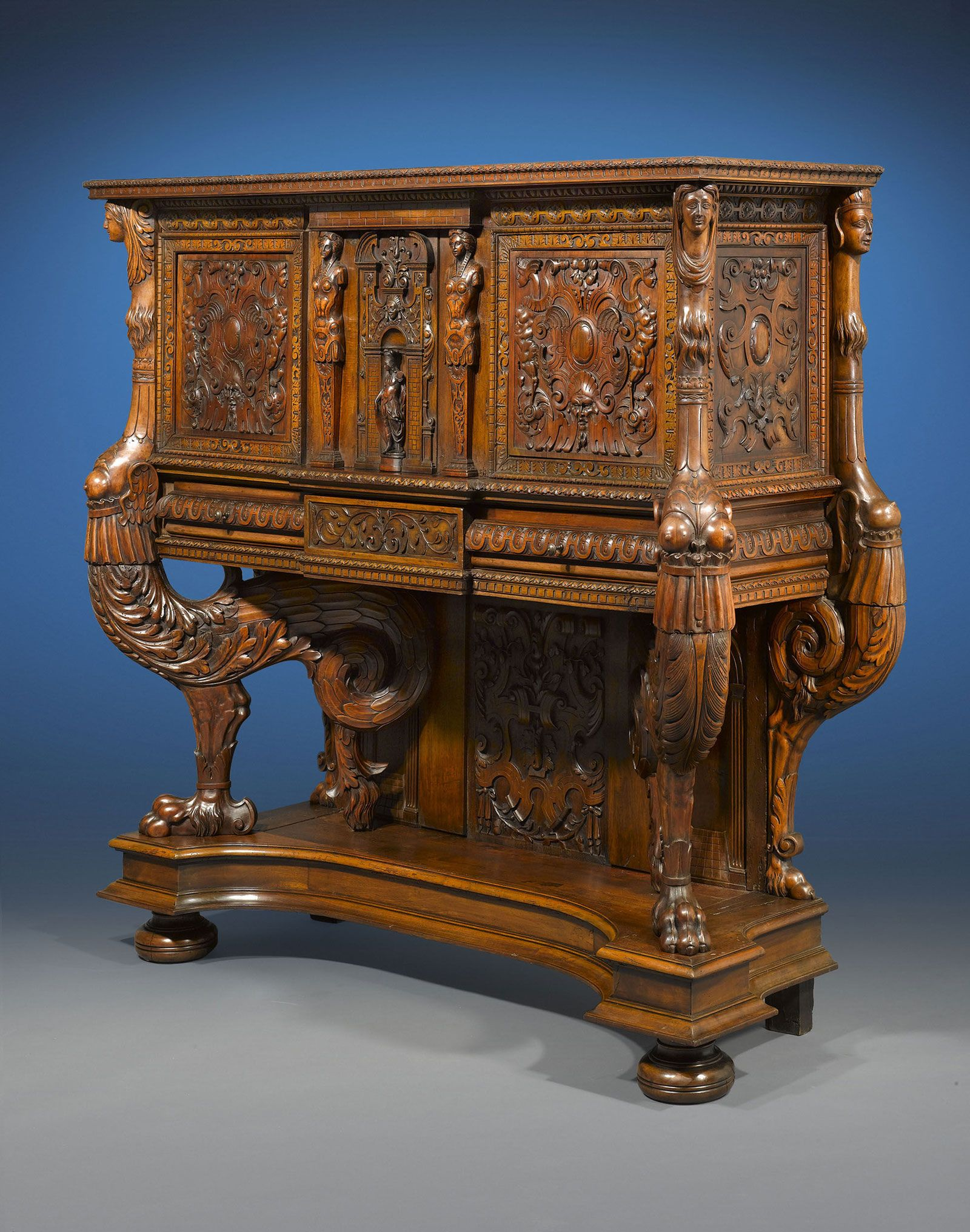 Francis I Renaissance Sideboard Created During The French Renaissance In Lyon This Astonishing 16th Renaissance Furniture Antique Furniture Ornate Furniture
