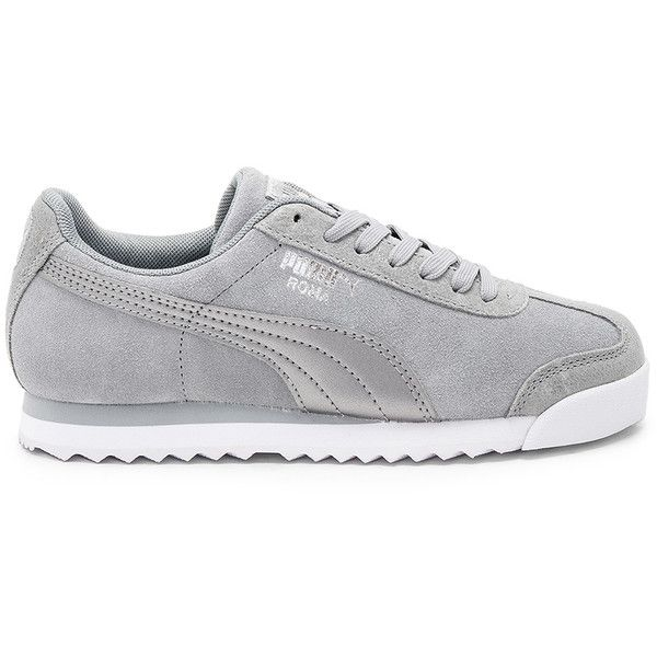 ShoesSneakersRubber Polyvore Featuring Classic Puma On Roma Sneakers Up Sole Laced Metallic Sneaker75❤ Liked Lace OZiuPkXT
