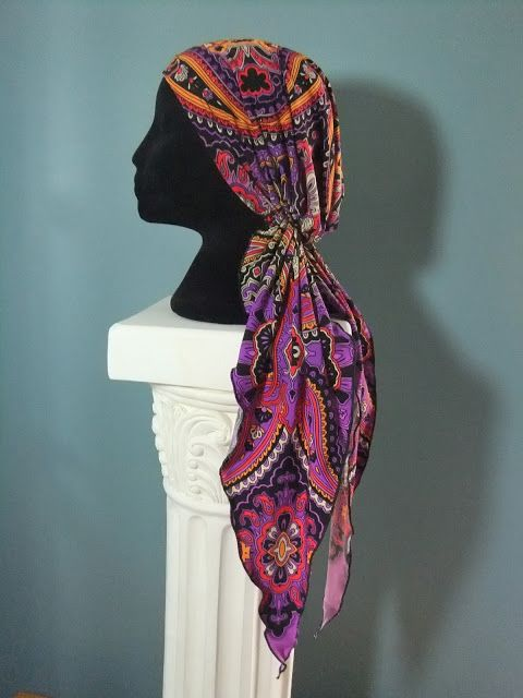 free pattern for pre tied headscarf chemo hat sewing pattern, chemo ...