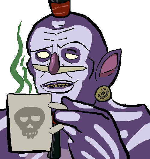 A Cup Of Voodoo Witch Doctor Reaction Face Witch Doctor Character