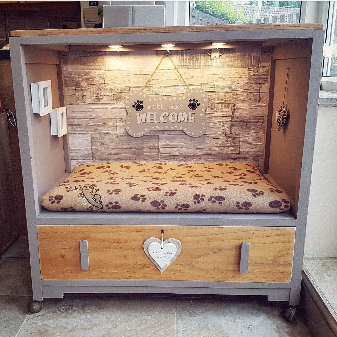 Up cycled drawers into a dog bed | Things to make ...
