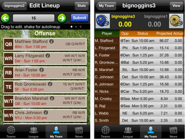 The MustHave Fantasy Football Apps for 2012 Fantasy