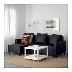 IKEA - LUGNVIK, Divano letto con chaise-longue, Granån nero ...