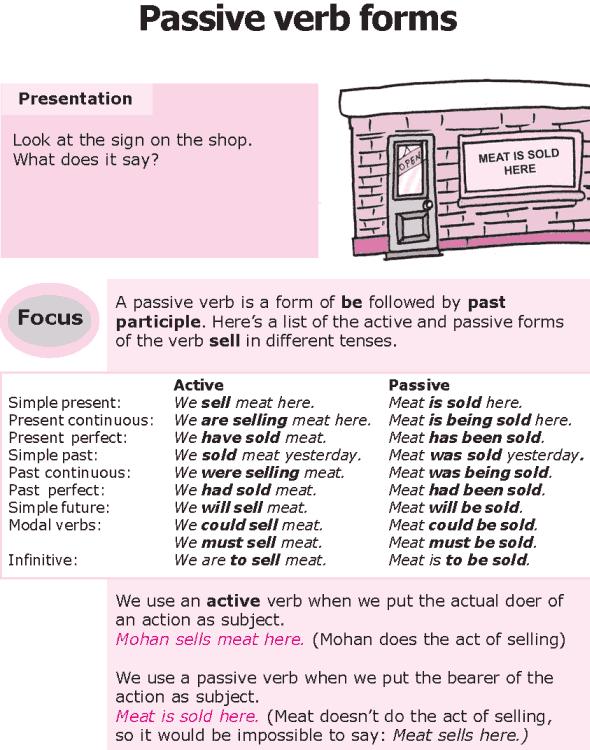 Grade 8 Grammar Lesson 21 Passive verb forms | Grammar | Pinterest ...