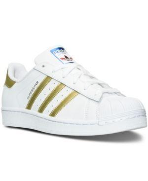 adidas superstar femminile casual scarpe dal traguardo bianco