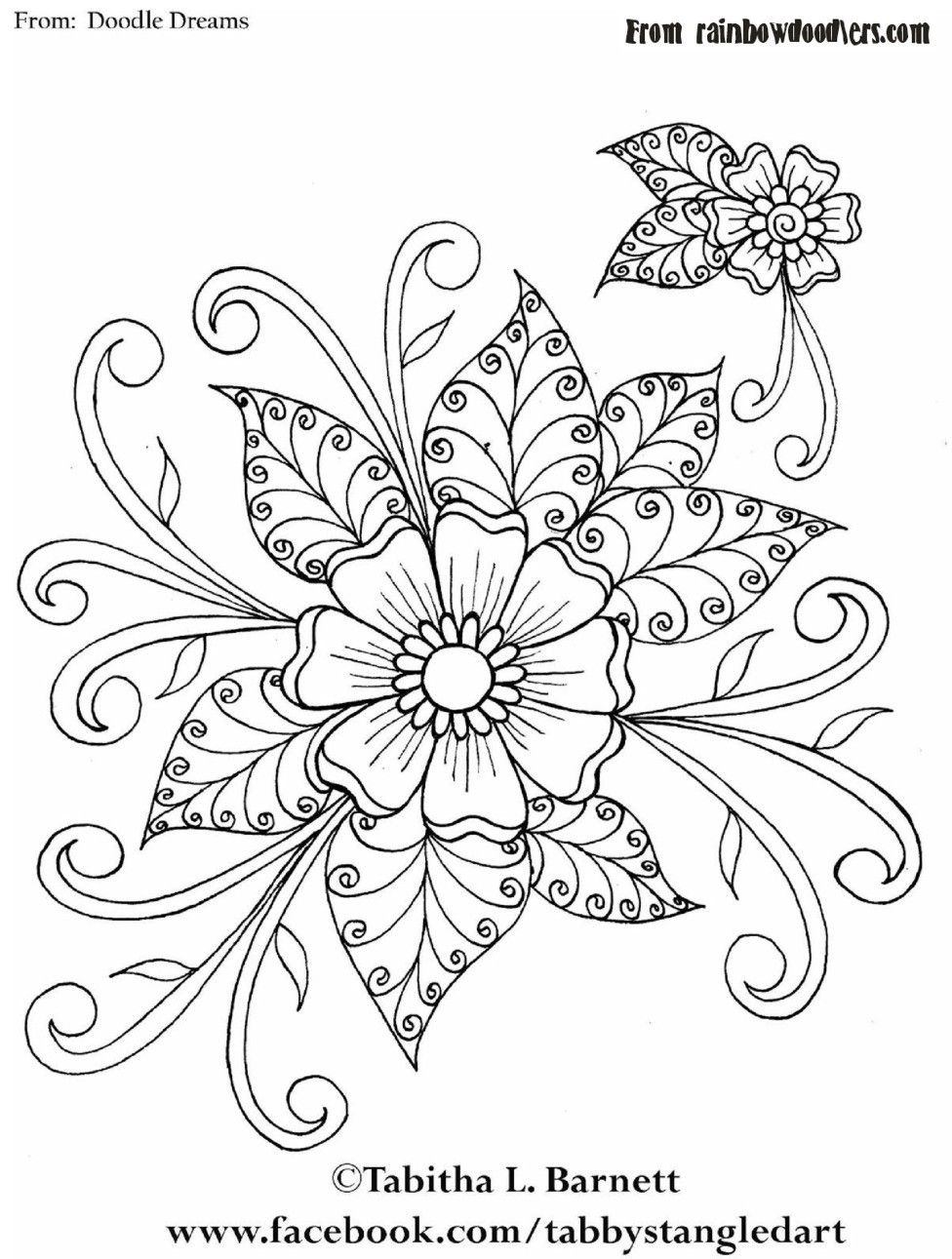 Embroidery Pattern of Henna flower Doodledreams from rainbowdoodlers ...