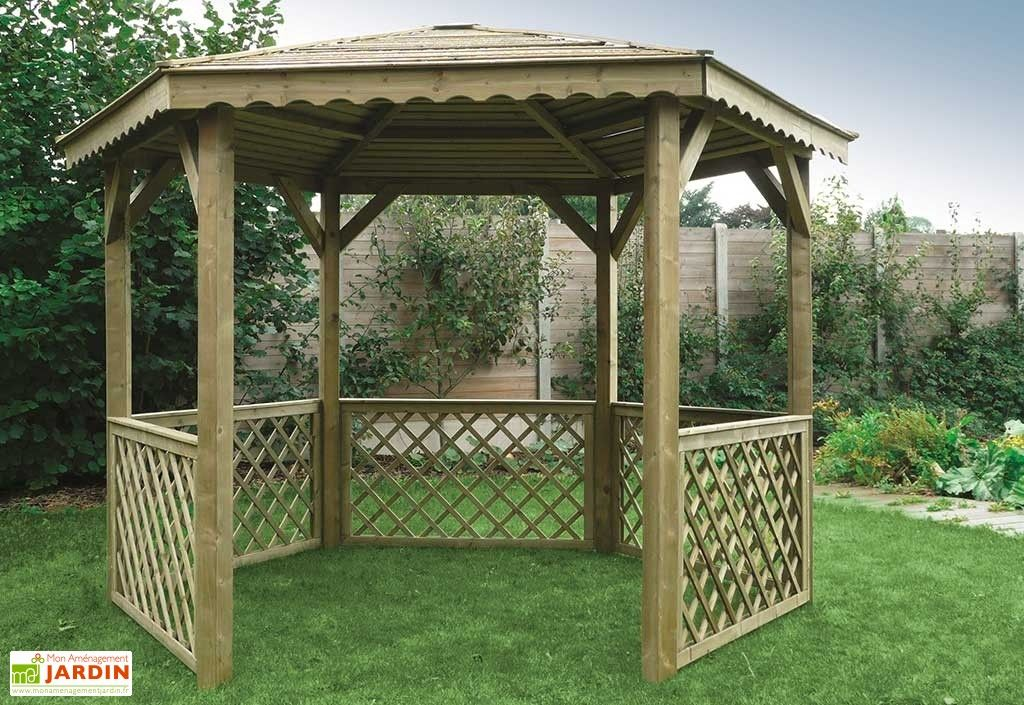 Kiosque Hexagonal Bois Gardanne 352x305cm Kiosque Gloriette