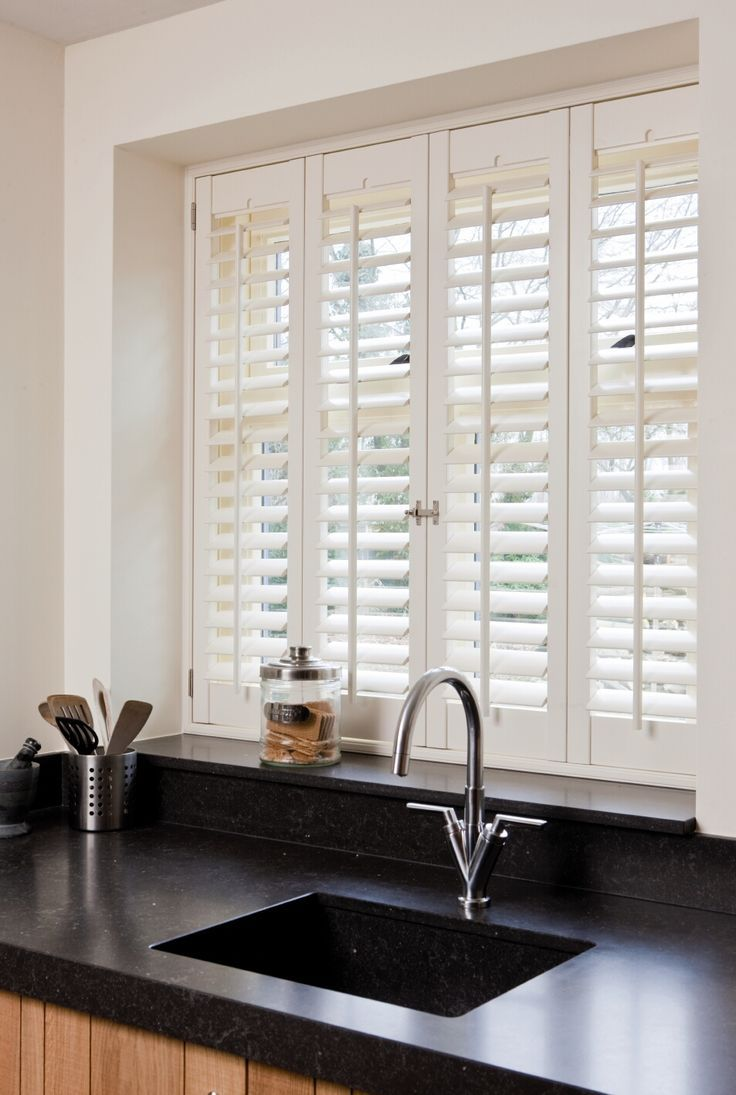 Image result for shutters on an internal window between kitchen and