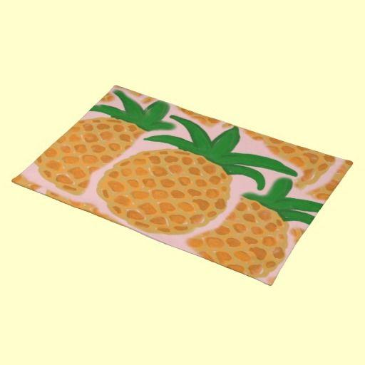 Hawaiian Style Pineapple Placemats #pineapple #placemats #hawaii Cool Kitchen Design Hawaii 2018