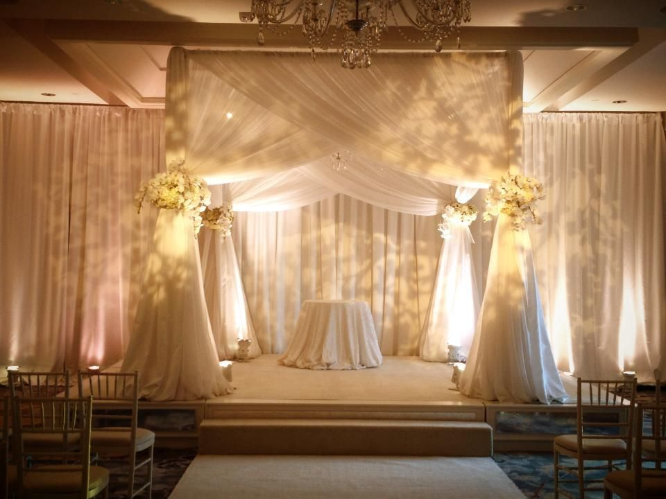 Adjustable Sheer Wedding Backdrop Wedding Reception