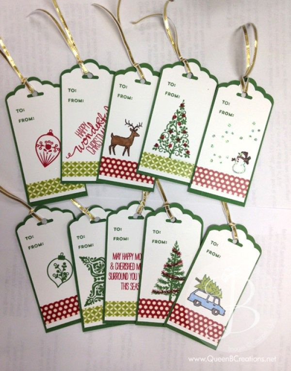 a handmade item during the christmas season shows that you put a little extra thought and effort into that special gift even if you dont have time to make - Christmas Tags Handmade
