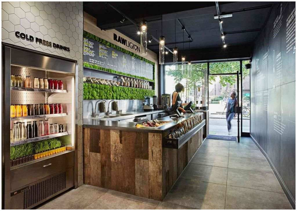 29 Fast Food Interior Design Juice Bar Design Store Design