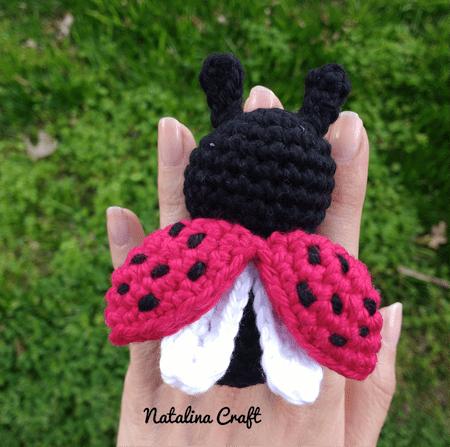 Free Crochet Pattern: Ladybug Amigurumi - Patron gratuit: Coccinelle ...