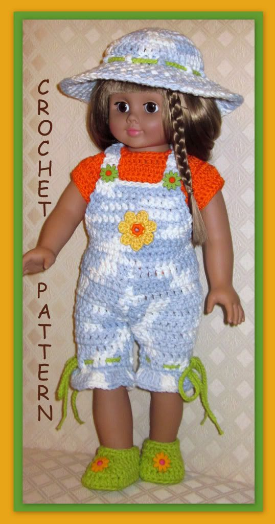 Doll clothes crochet pattern fits 18 inch american girl 20 ...