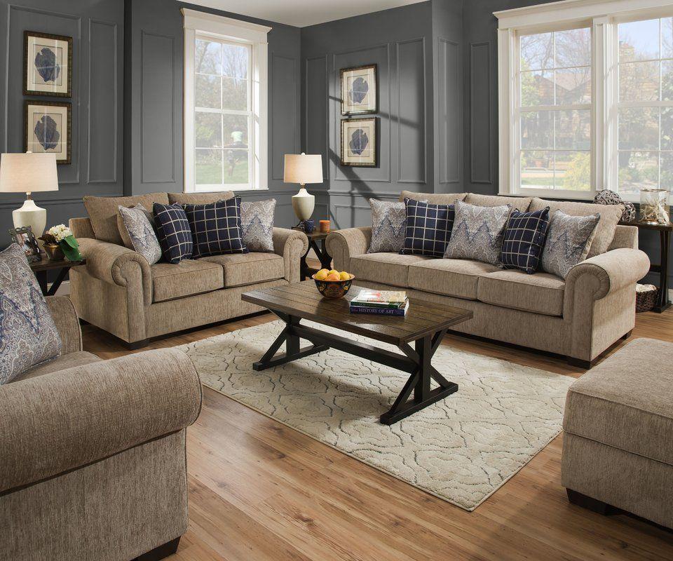 Della Configurable Living Room Set
