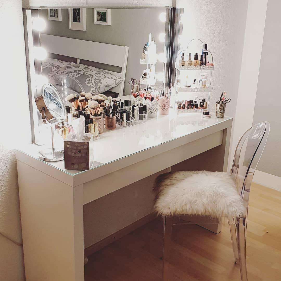 Schminktisch In 2020 Ikea Malm Room Makeover Ikea Vanity