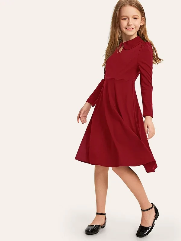 33+ Button keyhole pleated belted dress ideas