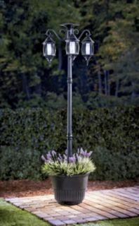 madison solar lamp post u0026 planter - Solar Lamp Post