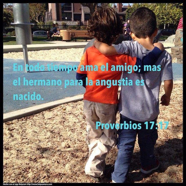 En todo tiempo ama el amigo; mas el hermano papa la angustia es nacido. Proverbios 17:17 #holycam