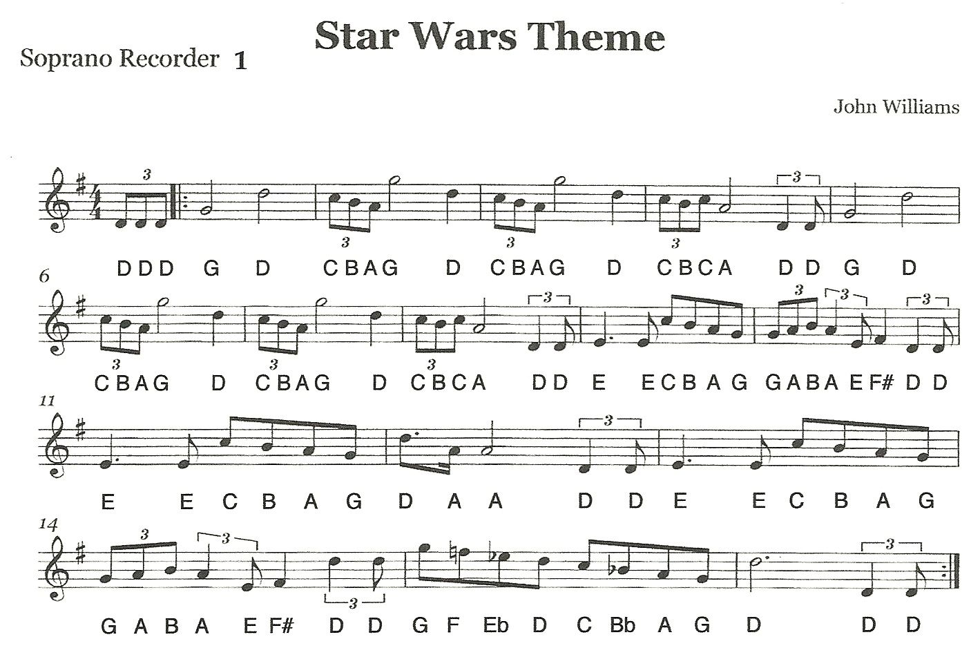Recorder Ensemble Star Wars First Recorder Part 1 With Images