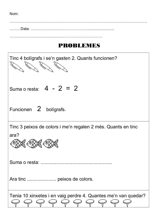 Problemes De Suma I Resta By Monica Roige Sedo Via Slideshare Matematicas 1 Primaria Problemas Matematicos Escuelas Creativas [ 1450 x 1024 Pixel ]