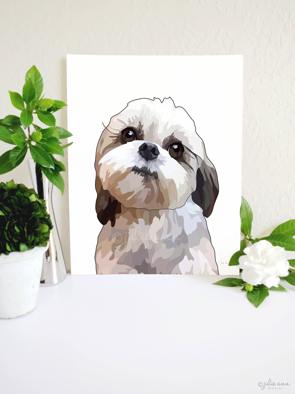 It/'s All About Me Janet Kruskamp Animal Dog Humor Shih Tzu Print Poster 18x18