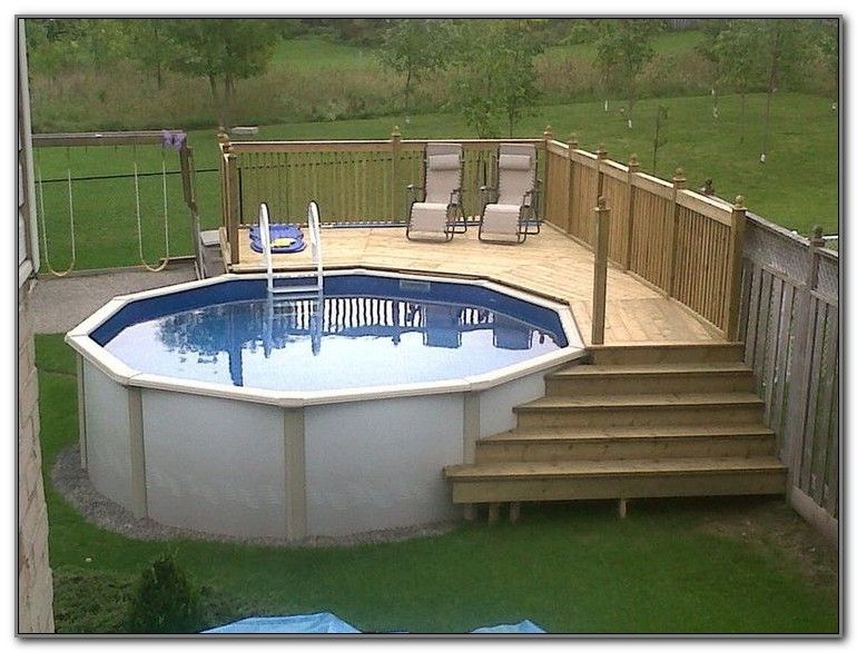 Simple above ground pool deck designs above ground pool for Ground floor balcony design