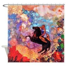 Odilon Redon Muse On Pegasus Shower Curtain Shower