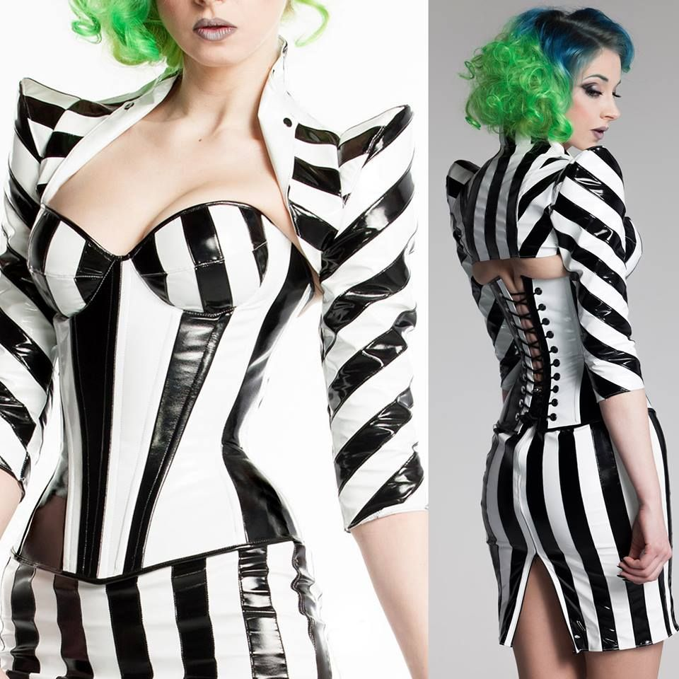 Fine Lines in ArtificeClothing Betelgeuse Padded bust cup PVC Corset