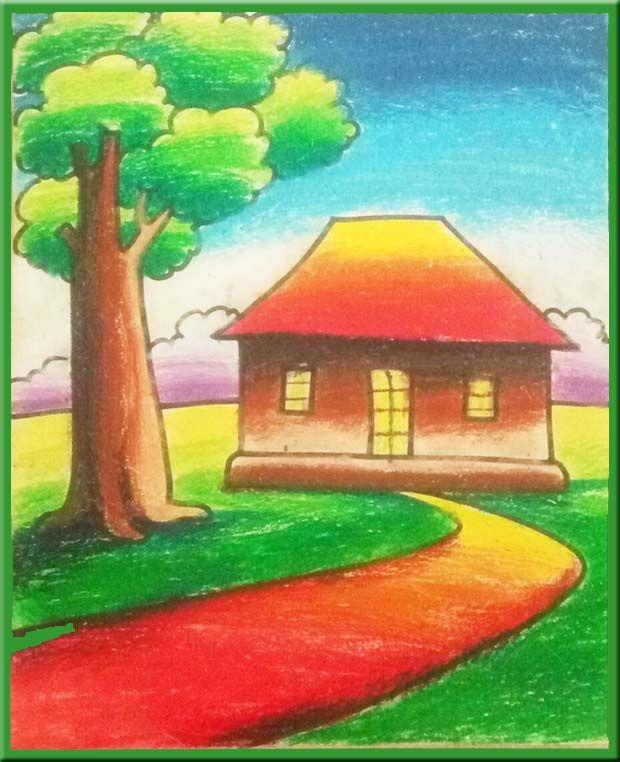 Pastel Painting Oil Pastel Landscape Drawing Oil Pastel Drawings Easy Oil Pastel Paintings Oil Pastel Landscape