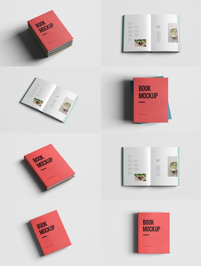 Book Cover Psd Template Free ~ Free realistic book mockup psd mockups templates for