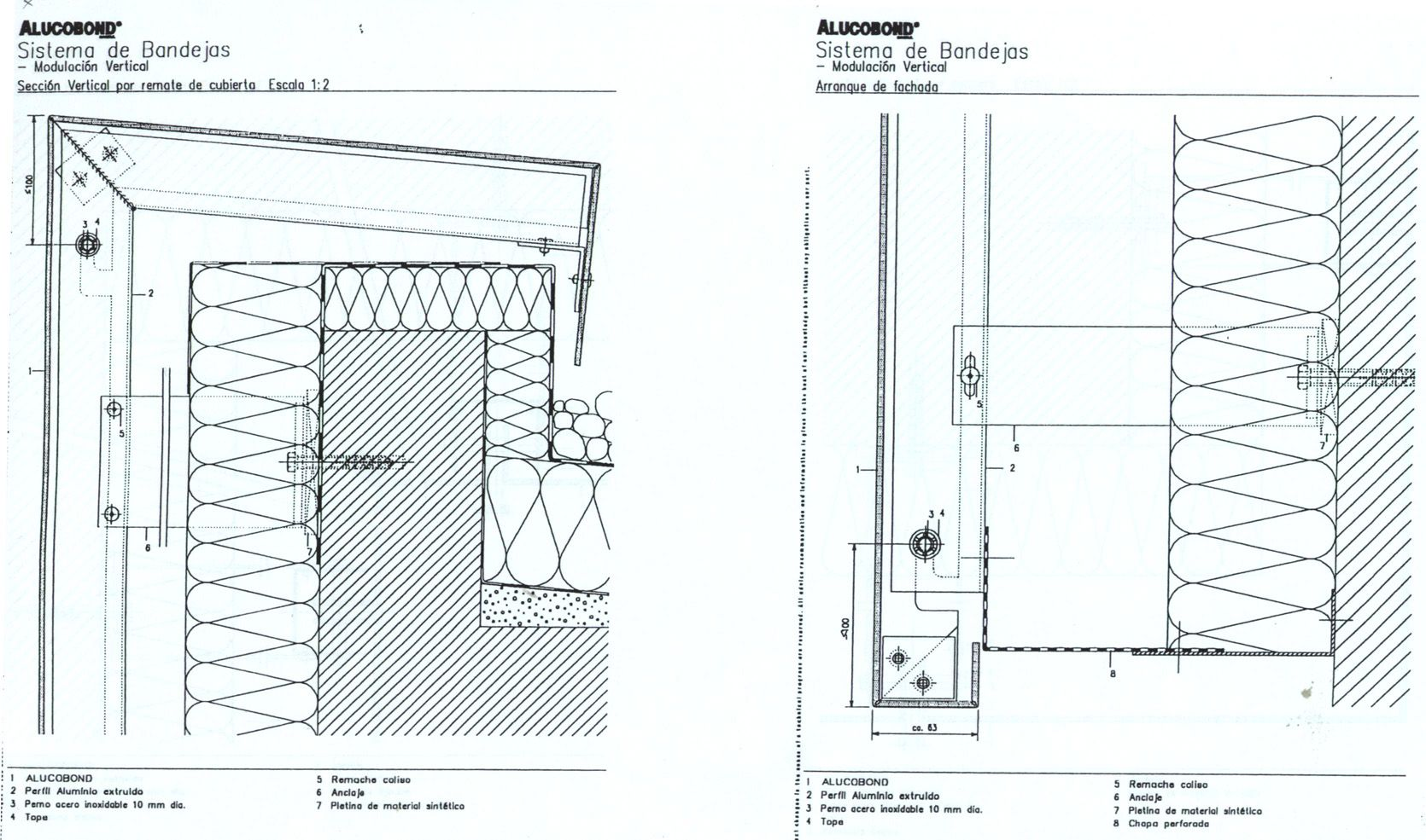 Aluminum Composite Panel Construction Detail : Xapametallica alucobondbandejacubierta