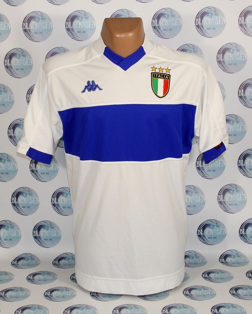 save off 036e0 4ade0 ITALY NATIONAL TEAM 1998 2000 AWAY FOOTBALL SOCCER SHIRT ...