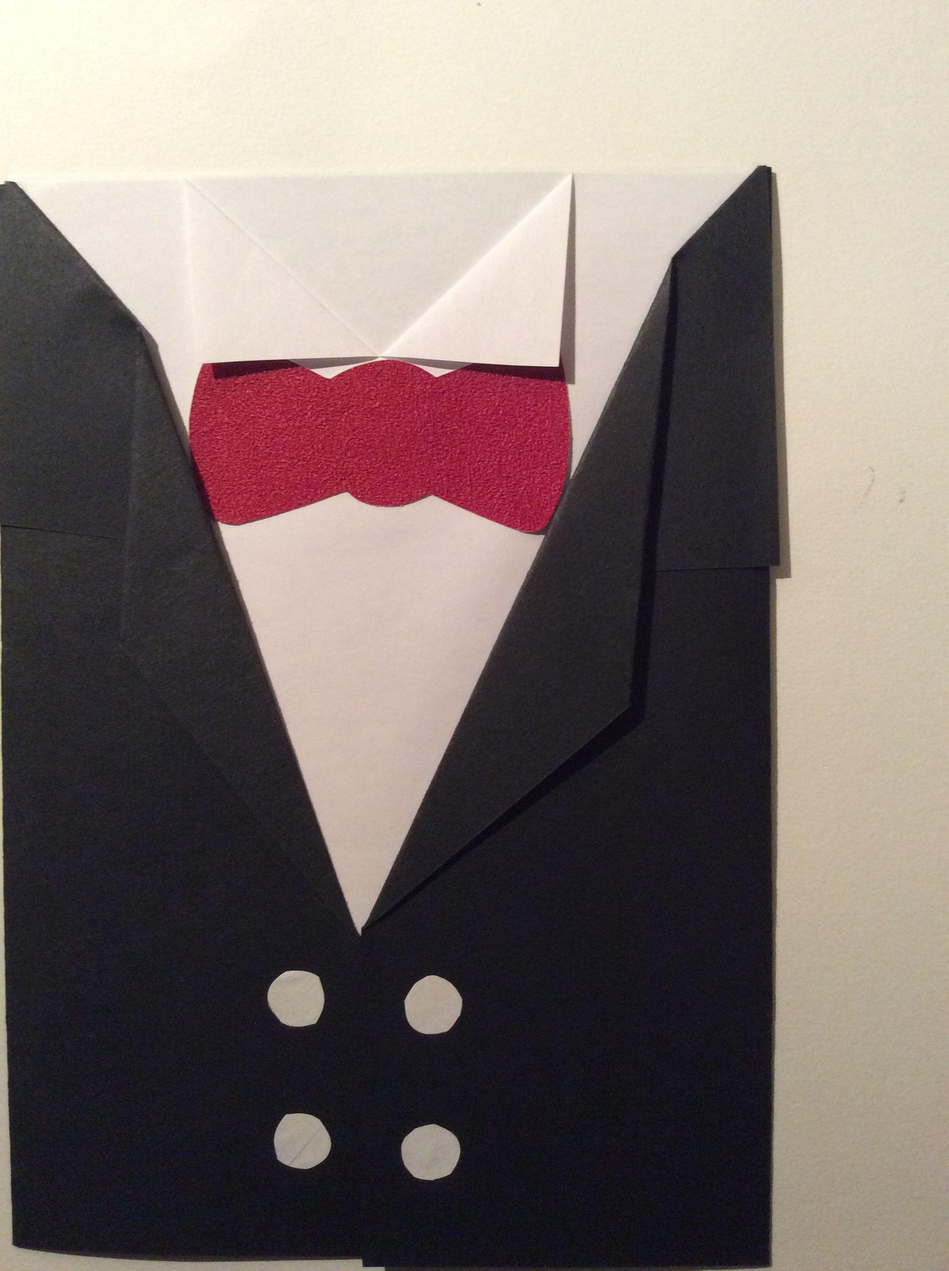 frakkikortti paperitaittelulla