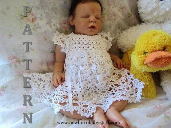 Crochet Baby Dress Crochet Baby Dress Cielo Crochet Baby Dress and Headband Pat...