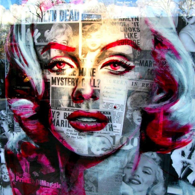 Marilyn Monroe  collage pop art