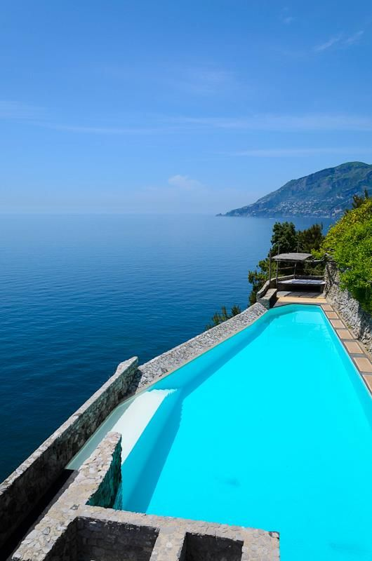 Villa Portico located near Maiori on the Amalfi Coast.