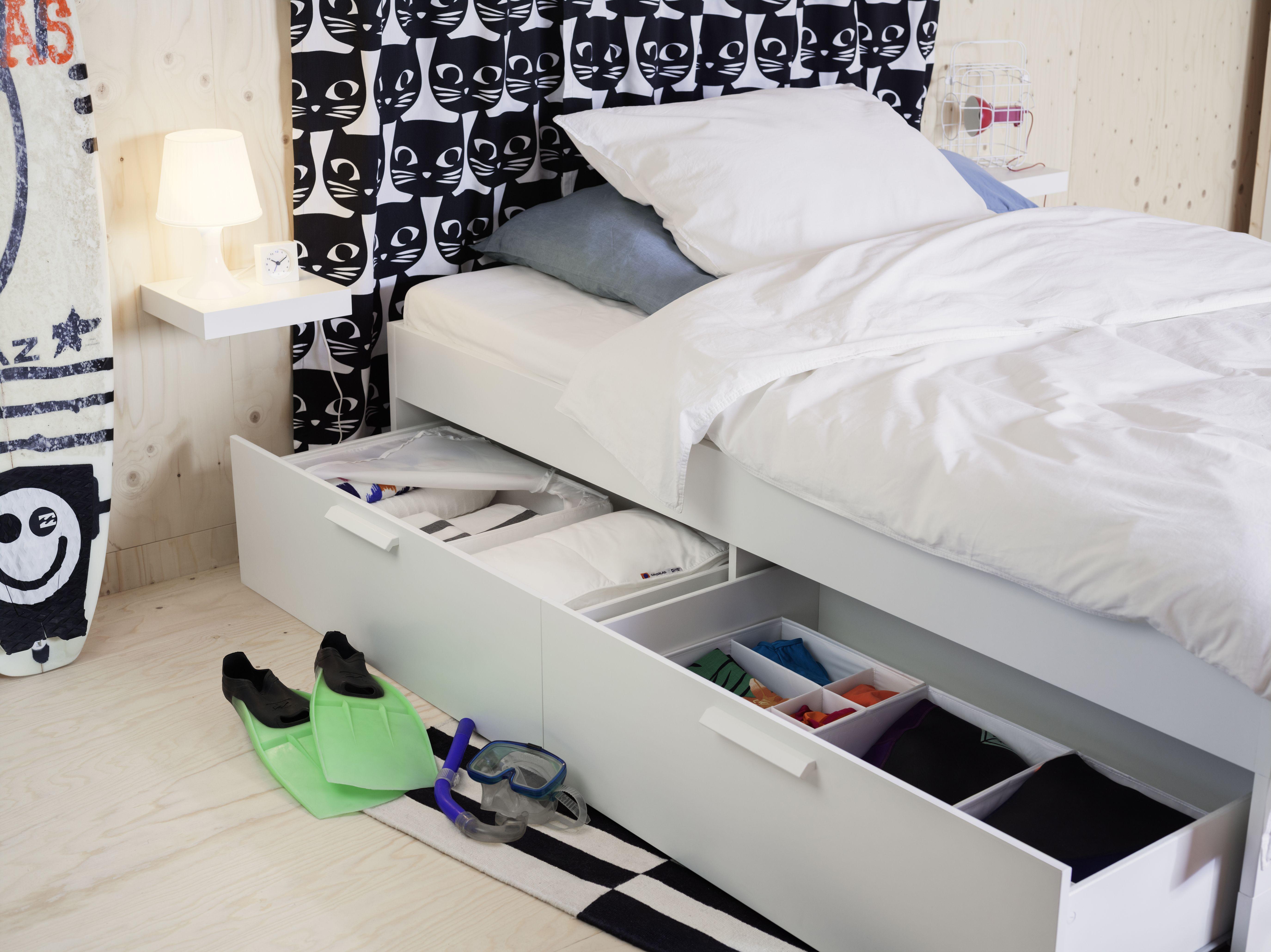 Brimnes Tagesbettgestell 2 Schubladen Weiss Ikea Deutschland Ikea Bett Mit Schubladen Bett Mit Bettkasten Bett Mit Schubladen