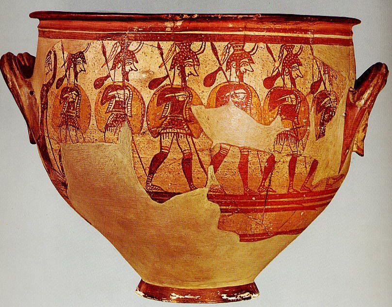 Myceanean Warrior Vase From 12th Century BCE
