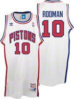 5b792475387 Dennis Rodman Jersey  adidas White Throwback Swingman  10 Detroit Pistons  Jersey