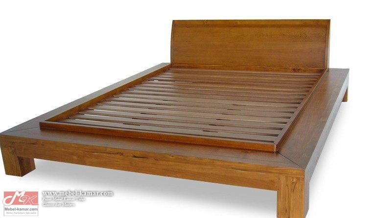 Tempat Tidur Minimalis Blok Pendek Trj09 Teak Bedroom Furniture Teak Furniture Set