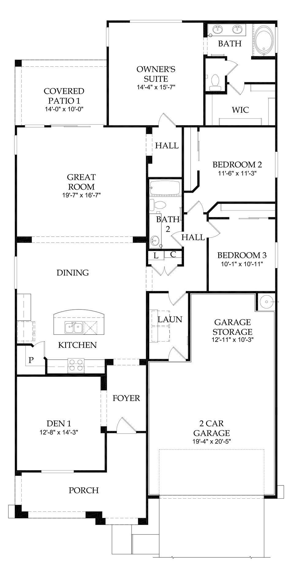 Pulte Manzanita At Bella Via Mesa Pulte Floor Plans How To Plan