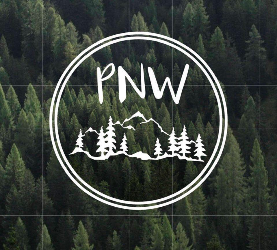 PNW Vinyl Decal Pacific Northwest Vinyl Decal Yeti