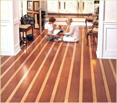 Very Cool Two Tone Hardwood Floor