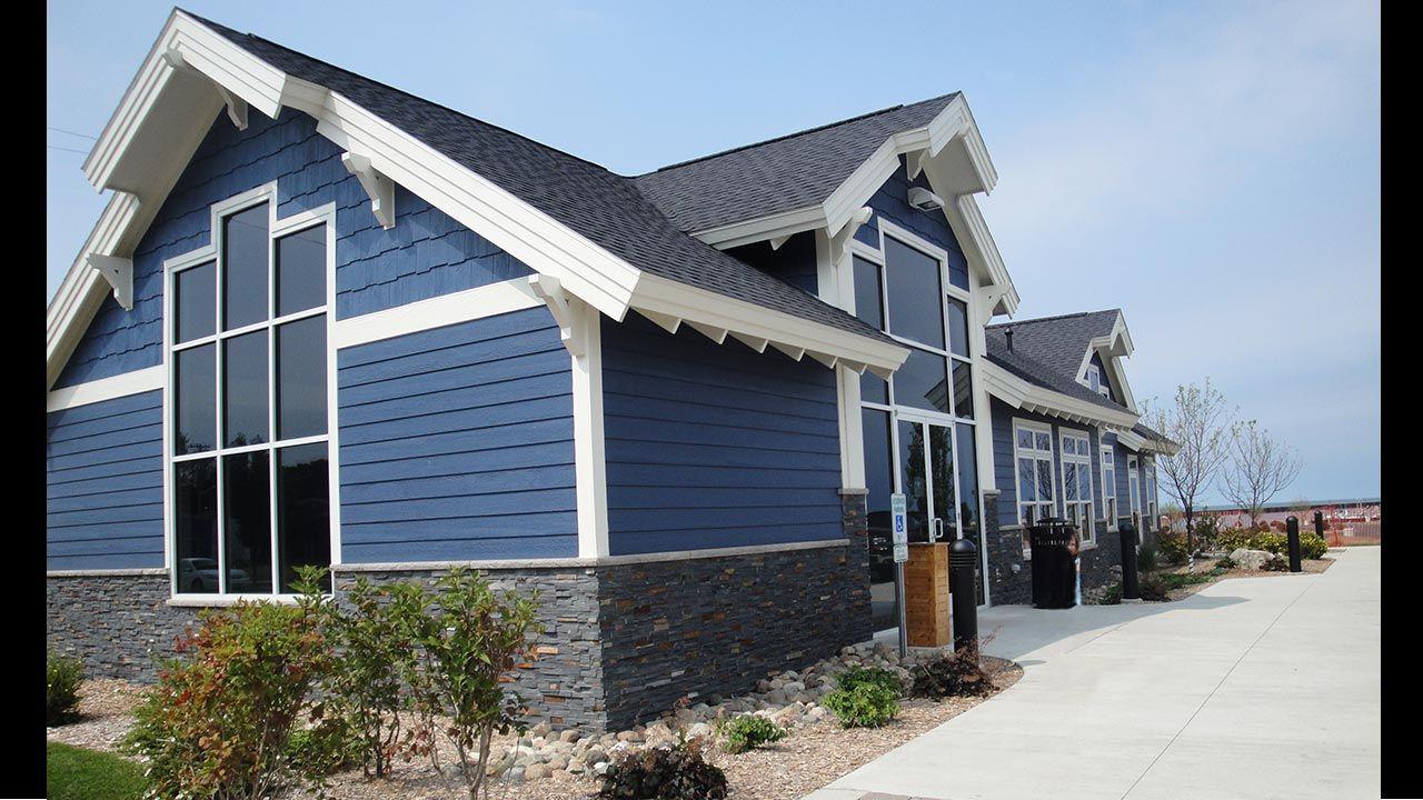 Charcoal Ledgestone Exterior Port Austin\'s Visitors Center Realstone ...