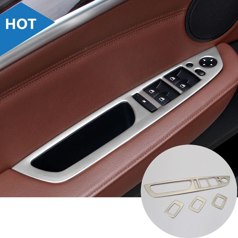 8378afa4be4 Inner Door Armrest Window Switch Button Cover Trim 4pcs For BMW X5 E70  2009-2013