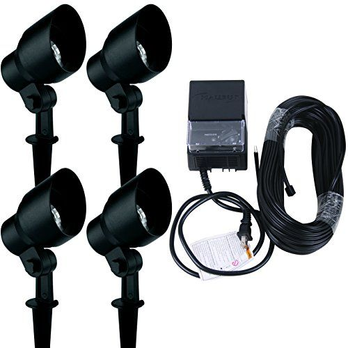 Malibu 4 Pack 20 Watt Floodlight Kit Low Voltage Landscape Lighting 8301990404 Visit The Image Link More Details